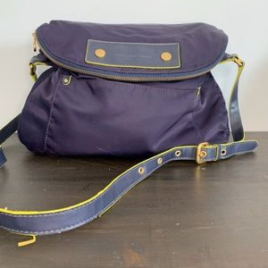 Marc Jacobs crossbody nylon purse leather detail